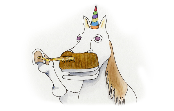 Unicorn Having Fun : Mister UnicornUnicorns With Mustaches